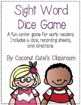 Sight Word Dice Game FUN!