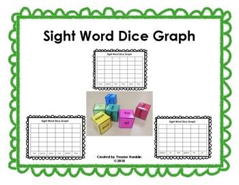 Sight Word Dice Graphs