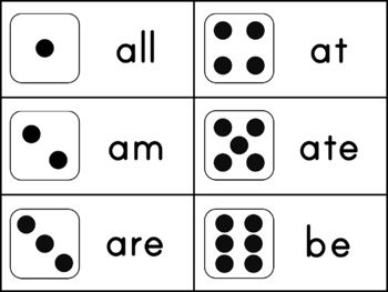 Sight Word Dice Roll Bundle - Ink Friendly Reading Games