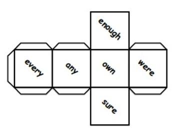 Sight Word Dice Sample