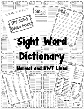 Sight Word Dictionary (Handwriting Without Tears and Normal)