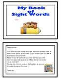 Sight Word Vocabulary Dictionary / Alphabet Book
