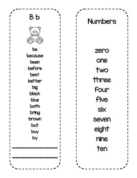 Sight Word Student Dictionary