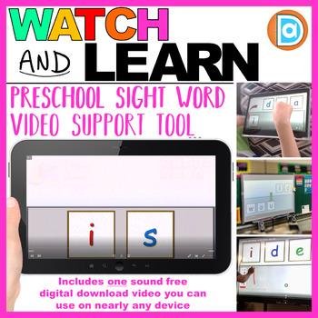 Pre-K Sight Word Fluency Tool   |  Video Download  |  Is