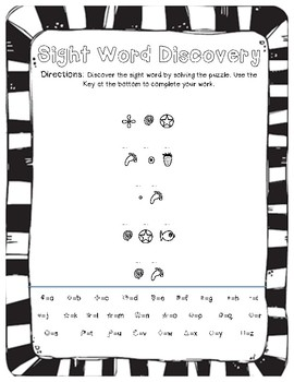 Sight Word Discovery