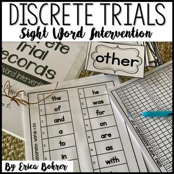 Sight Word Discrete Trials
