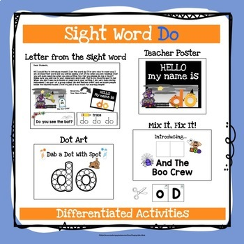 Sight Word Do Activities