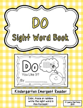 "Sight Word ""Do"" Emergent Reader"