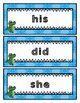 Sight Word - Dolch - Fry 1/3 page Cards - Alligator Theme - Over 1100 cards