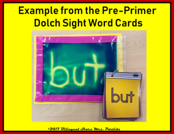 Primer Sight Word  Dolch Word Cards Squishy Bag Center