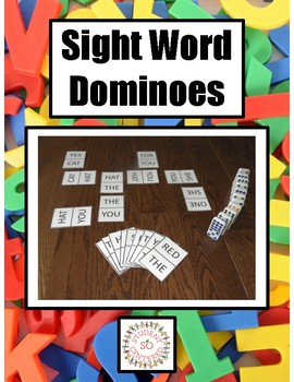 Sight Word Domino Cards