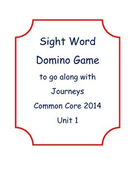 Sight Word Domino for Journeys Common Core 2014 Unit 1