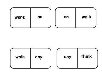 Sight Word Dominoes 1st Grade