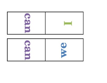 Sight Word Dominoes Editable
