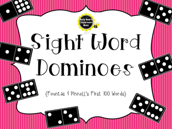 Sight Word Dominoes ~ Fountas & Pinnell 100 High Frequency Words