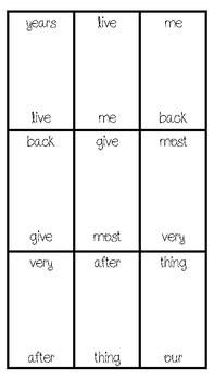 Sight Word Dominoes (Fry's 101-200)