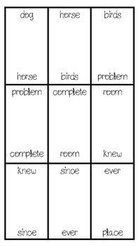 Sight Word Dominoes (Fry's 301-400)