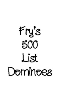 Sight Word Dominoes (Fry's 401-500)