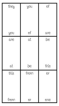 Sight Word Dominoes (Fry's First 100)