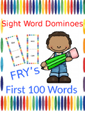 Fry First 100 Words Sight Word Dominoes