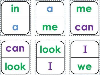 Sight Word Dominoes I