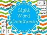 Sight Word Dominoes - (Kindergarten Sight Words)