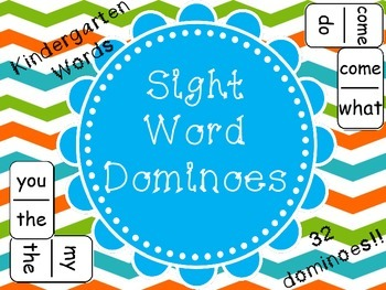 Sight Word Dominoes - (Kindergarten Sight Words)