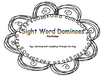 Sight Word Dominoes Pre-Primer