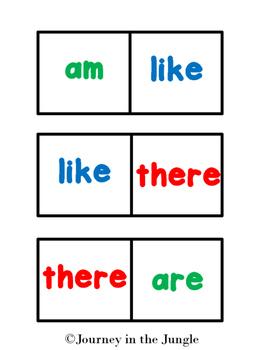 Sight Word Dominoes (Primer) - Freebie