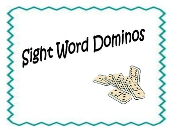 Sight Word Dominos