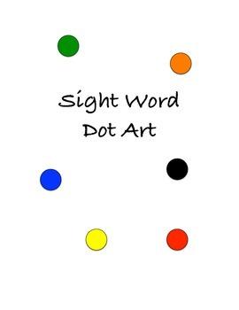 Sight Word Dot Art