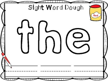 Sight Word Dough Mats (Kindergarten Reading Wonders)
