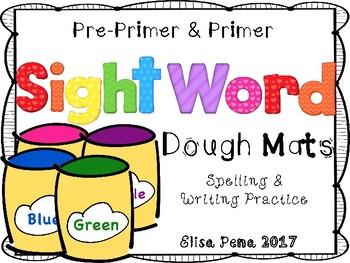Sight Word Dough Mats (Pre-Primer & Primer)
