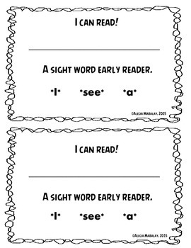 Sight Word Early Reader