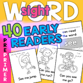 Sight Word Early Readers: Dolch 220 PrePrimer 40 Book Set!
