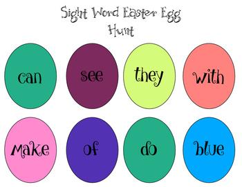 Sight Word Easter Egg Hunt