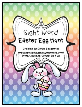 Sight Word Easter Egg Hunt