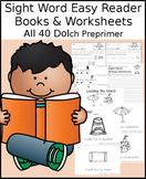Sight Word Easy Reader Books & Worksheets: Preprimer