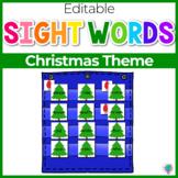 Sight Word Editable Hide & Seek Pocket Chart Cards | Christmas Theme