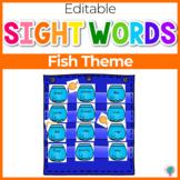 Sight Word Editable Hide & Seek Pocket Chart Cards | Fishbowl Theme