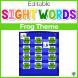 Sight Word Editable Hide & Seek Pocket Chart Cards | Frog Theme