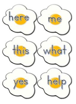 Editable Sight Word Egg Flip Game