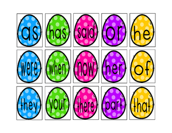 Sight Word Egg Hunt