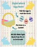 Sight Word Egg Hunt Game 220 Dolch Sight Words Pre-K to Third Grade