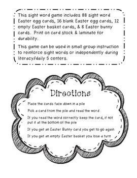 Sight Word Egg Hunt Pre-Primer & Primer Dolch Sight Words