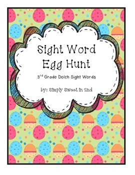 Sight Word Egg Hunt Third Grade Dolch Sight Words