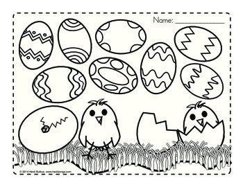 Sight Word Eggs Match Up Recording Sheet Freebie