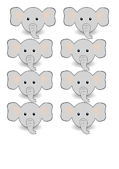 Sight Word - Elephant Game (Red)