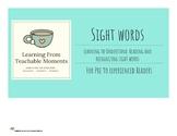 Sight Word Elkonin Boxes