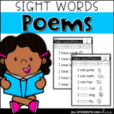 Sight Words {Emergent Poems}